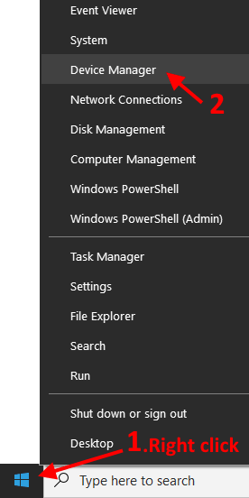 Right Click Device Manager Min