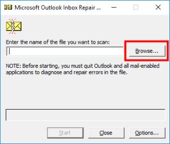 Scanspst Outlook Not Responding