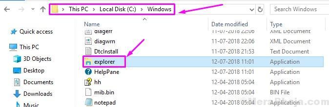 Select File Explorer.exe