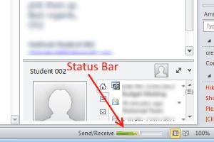 Status Bar Outlook Not Responding