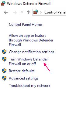 Turn Windows Firewall On Off