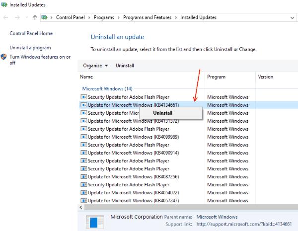 Uninstall Updates Wacom Pen Not Working Windows 10