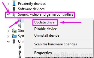 Update Audio Driver