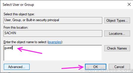 User Acess To Folder