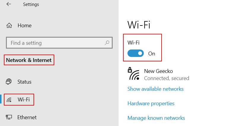 Wifi On Min