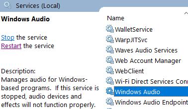 Windows Audio Min