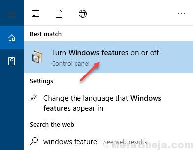 Windows Feature On Or Off
