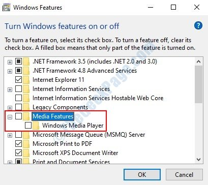 Windows Media Feature