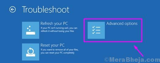 Windows Setup Advanced Options