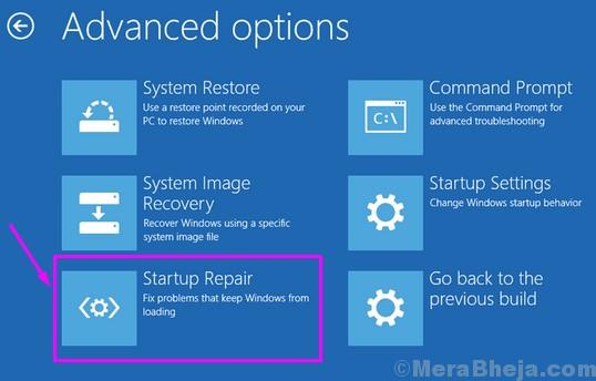 Windows Setup Startup Repair