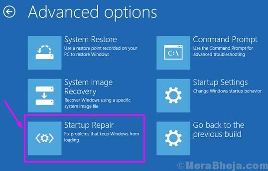 Windows Setup Startup Repair