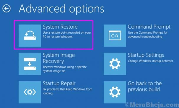 Windows Setup System Restore