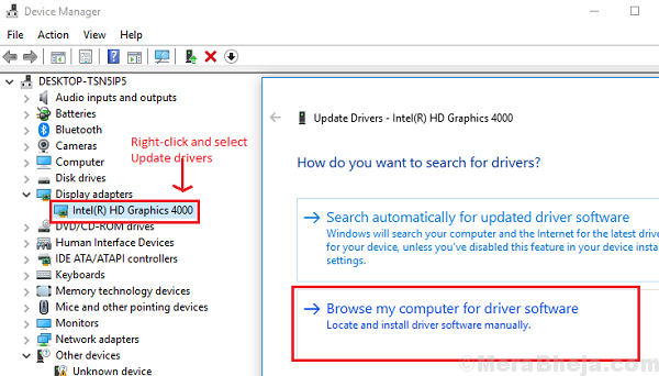 Browse Computer For Drivers