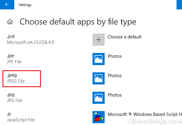 Choose Default App