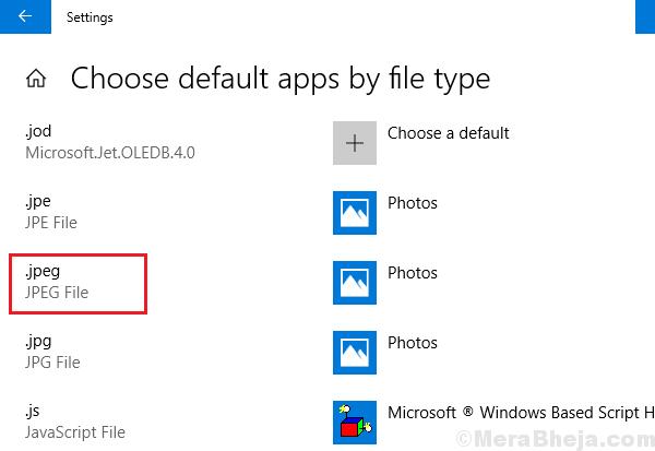 Choose Default App