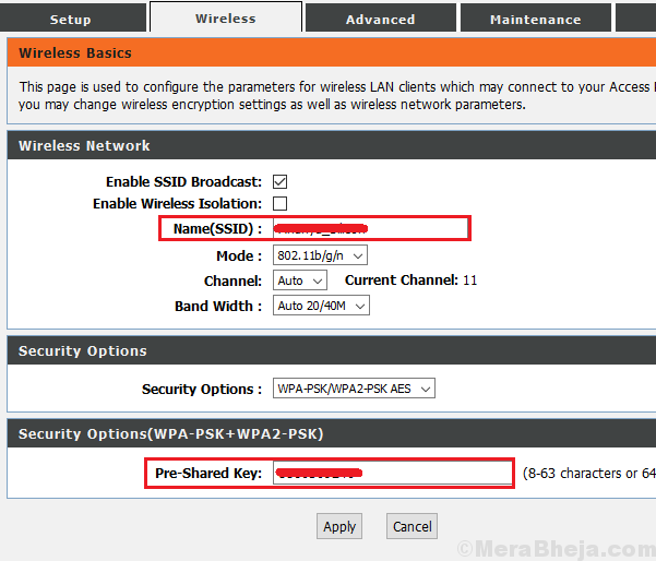 Change Ssid And Password