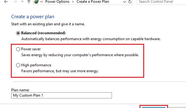 Change Power Plan