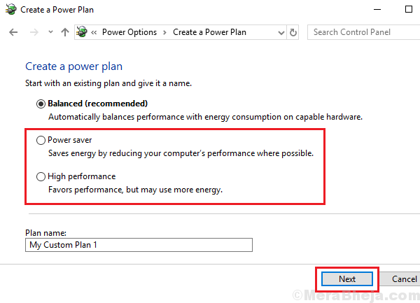 Change Power Plan