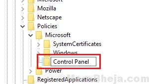 Create Control Panel Key