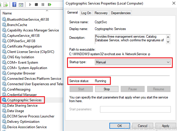 Enable Cryptographic Services