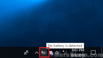 No Battery Is Detected