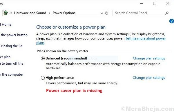 Restore Missing Power Plan Options On Windows 10
