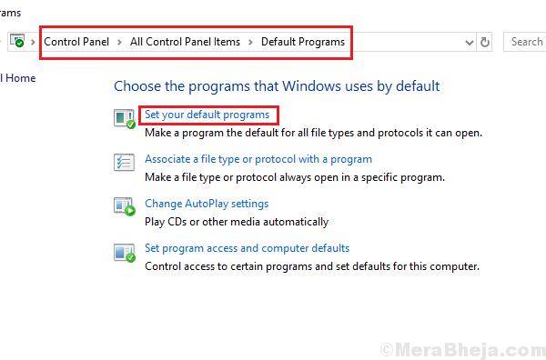 Set Your Default Program