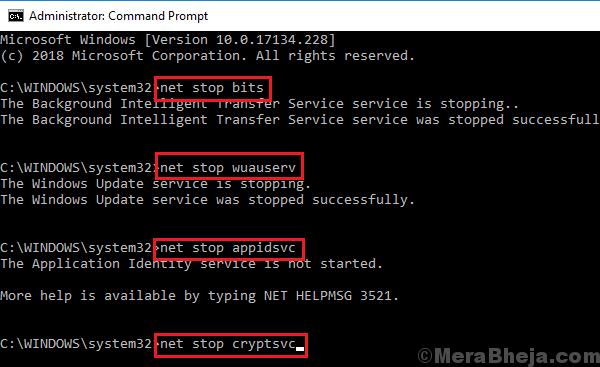 Stopr Windows Update Services