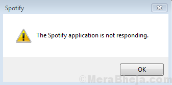 The Spotify Application Is Not Responding