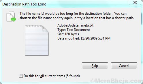 The File File Name Is Too Large For The Destination File System