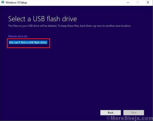 Windows 10 Media Creation Tool Can't Find Usb