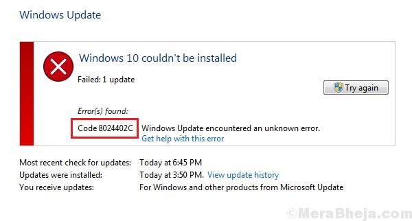 Fix Windows Update Error 8024402c In Windows 10
