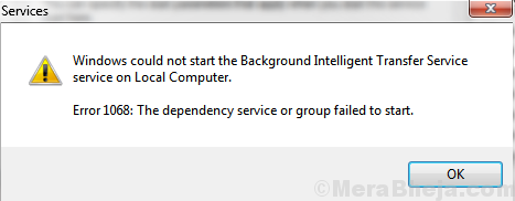Windows Could Not Find Background Service