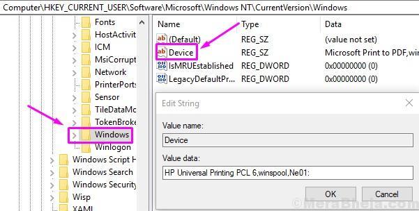Windows Device Modify Registry
