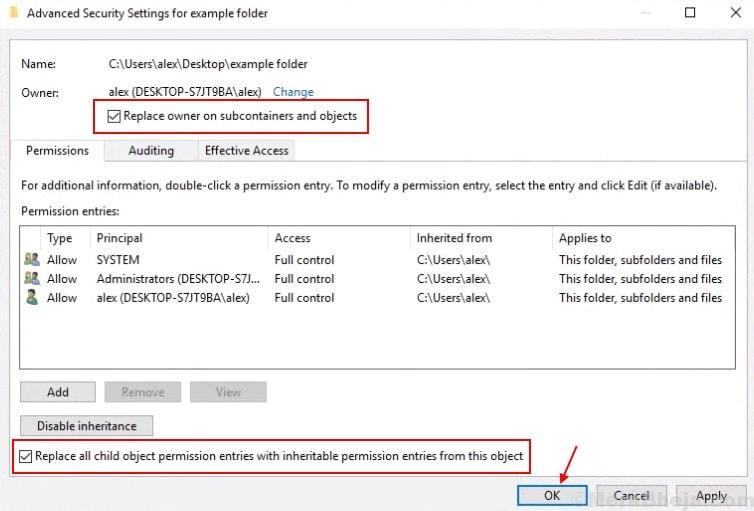 Advanced Security Settings Object Min