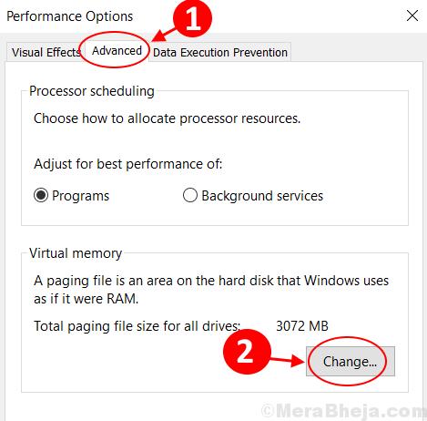 Change Virtual Memory Min