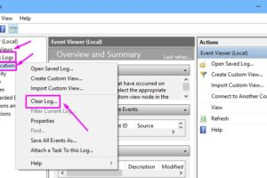 Clear Log Event Viewer