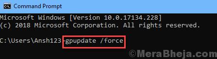 Command Gpupdate Force