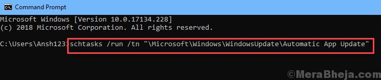 Command Prompt Update Windows Store