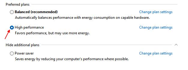 High Performance Plan Min