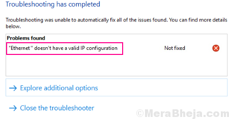 Main Ethernet Doesnt Have A Valid Ip Configuration