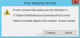 Main Failed To Enumerate Objects In The Container
