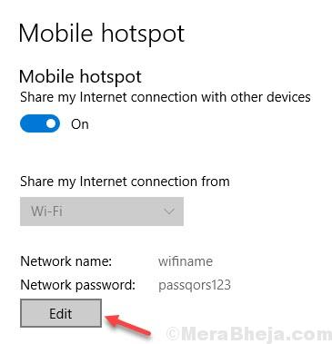 Mobile Hotspot Edit Ssid Password