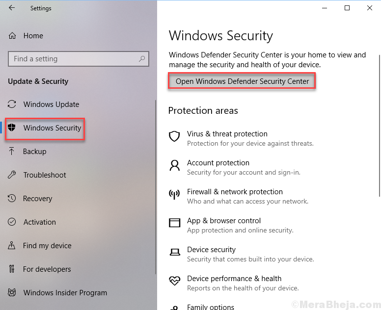 how to turn off windows defender security center