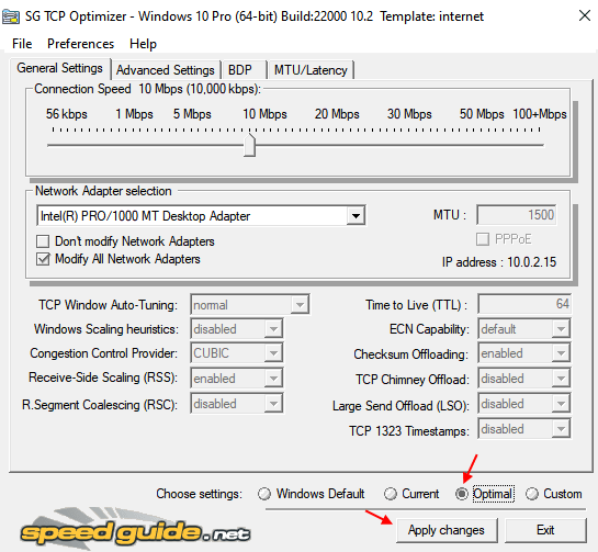 Optimal Tcp Optimizer Min