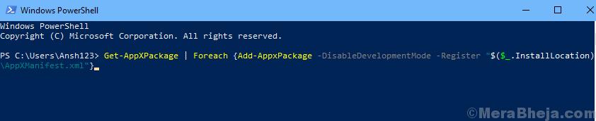 Powershell Register Windows Store Command