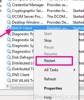 Restart Dhcp Ethernet Doesnt Have A Valid Ip Configuration