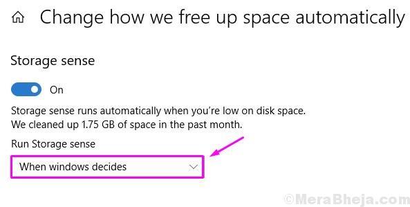 Run Storage Sense When