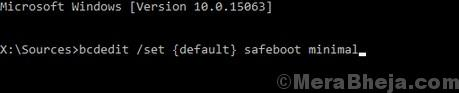 Safe Boot Minimal Command