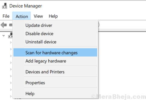 Scan Hrdware Changes Device Manager Min